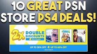 PSN DOUBLE DISCOUNT SALE - 10 GREAT PS4 PSN Store Game Deals!