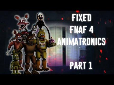 [FNAF   Speed Edit] Making Fixed FNAF4 Animatronics Part1