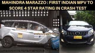 Mahindra Marazzo Crash Test - First Indian MPV To Score 4 Star Safety Rating (Global NCAP)