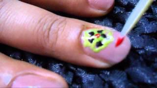 Colorful Quick Nail Art Design For Teenager-Colorful Picnic Nail Art Thumbnail