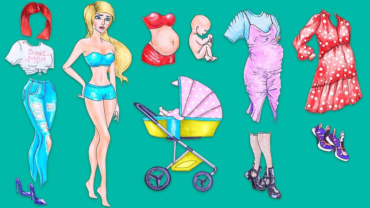 15 Trucos y Manualidades para Muñecas de Papel Embarazadas