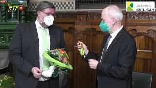 Schlüsselübergabe - Feierliche Amtseinsetzung von Landrat Dr. Ulrich Fiedler