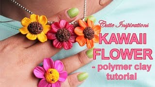 DIY Kawaii Flower Charm - Polymer Clay Tutorial - DIY Jewelry