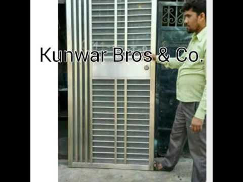 Stainless steel doors safety doors ss doors youtube for Ss door design