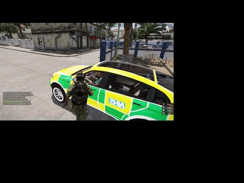 Report 2 players stealing medic car