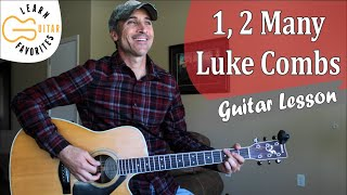 Download 1, 2 Many - Luke Combs - Guitar Lesson | Tutorial Mp3 and Videos