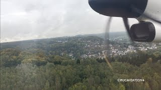 Luxair DHC 8-Q-400 Landing at Luxemburg [1080p60]