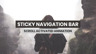 Sticky NavBar With JQuery | HTML, CSS & JavaScript
