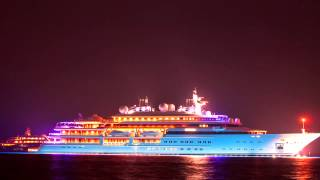 Corfu Nightscapes - Katara superyacht under the stars