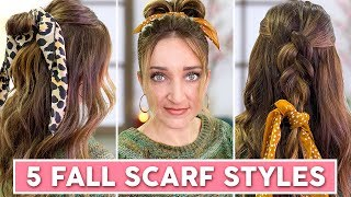 5 Fall Scarf Styles | Cute Girls Hairstyles