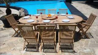 Teak Garden Furniture Folding Chair Set