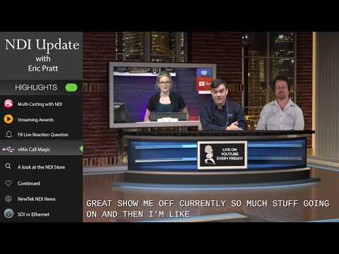 NDI MultiCasting to YouTube & Facebook - Plus a Remote Green Screen Guest