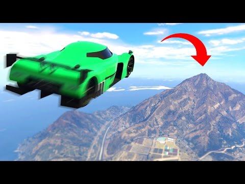 LONGEST GTA CAR JUMP EVER! (GTA 5 Funny Moments)