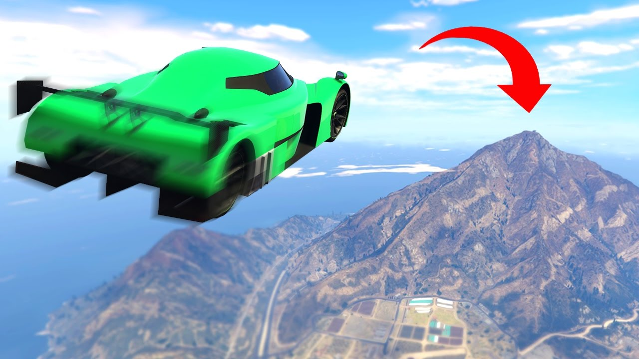 LONGEST GTA CAR JUMP EVER! (GTA 5 Humorous Moments)