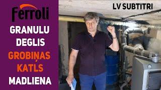 LV. Пеллетное отопление самотёком / Горелка Ferroli + Grobiņas SC-23SV SPMK / Madliena / 120м2 / 453