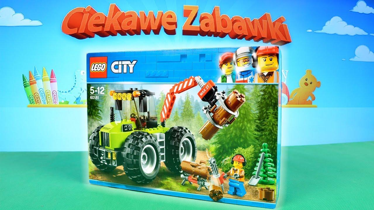 Budowanie Klocków Lego City Traktor Leśny 60181 Unboxing Speed Build
