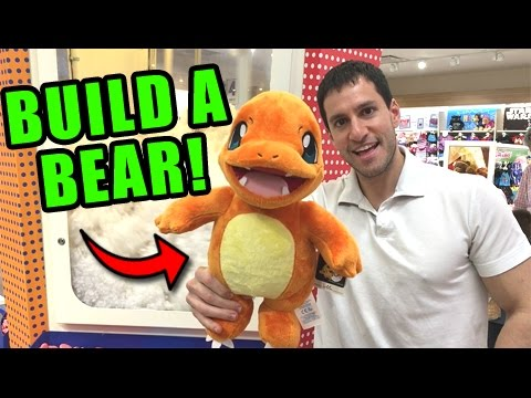 BUILD-A-BEAR POKEMON CHARMANDER PLUSH WORKSHOP TRIP! - EXCLUSIVE POKEMON CARDS!