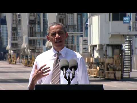 President Obama Speaks on Infrastructure and the Economy in Miami FL