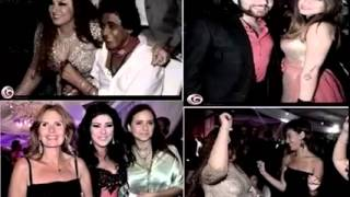 فضيحة الفنانة منة شلبى والراقصة دينا فى فرح ابنة فيفى عبدة   شاهد للكبار فقط +18