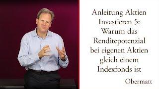 Anleitung Investieren 5: Ihre eigenen Aktien mit Renditepotenzial wie ein Indexfonds