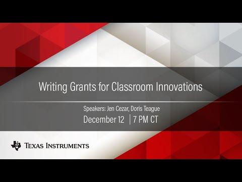 Webinar: Writing Grants For Classroom Innovations