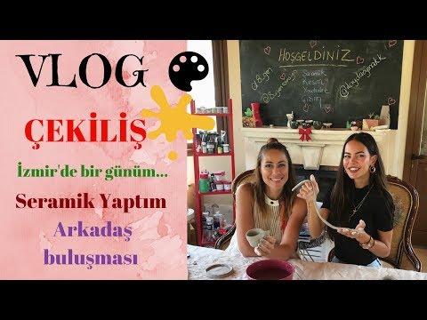 VLOG 24 | Seramik atölyesi - İzmir'de bir günüm - Lenssiz halim :)
