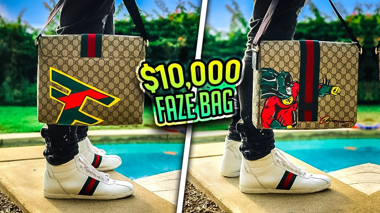$10000 CUSTOM FAZE GUCCI BAG! (ft. FaZe Rug) - YouTube