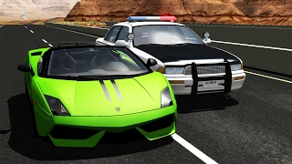 Police Chase Crashes Compilation - BeamNG.Drive •ShowMik