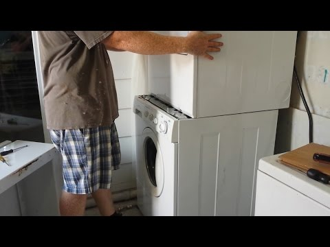 How to Stack Frigidaire Front Load Washer Dryer.
