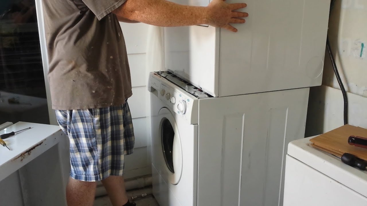 How To Stack Frigidaire Front Load Washer Dryer Youtube