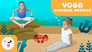 YOGA para niños - Las posturas de los animales del mar - Tutorial para practicar yoga