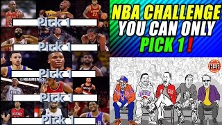 NBA SQUAD BUILDER CHALLENGE! YOU CAN ONLY PICK ONE! WHO WOULD YOU CHOOSE?! NBA 2K17 MY LEAGUE