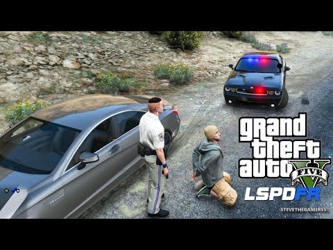 GTA 5 LSPDFR EPiSODE 92 - LET'S BE COPS - HIGHWAY PATROL (GTA 5 PC POLICE MODS) UNMARKED CHALLENGER