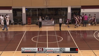 Varsity Boys Basketball Maples Marauders vs DMCI Maroons NLIT February 14 2019