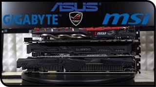 Сравнение GTX 1060 от MSI, ASUS и GIGABYTE - Дизайн, Охлаждение, Разгон