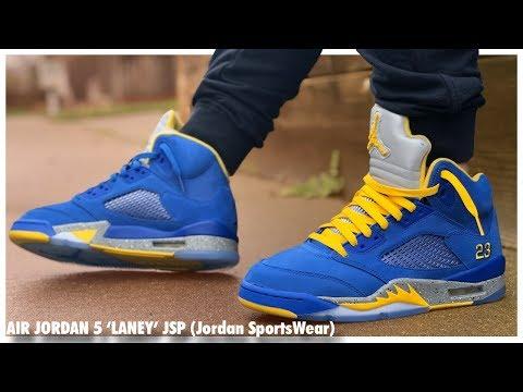 Air Jordan 5 'Laney' JSP - YouTube