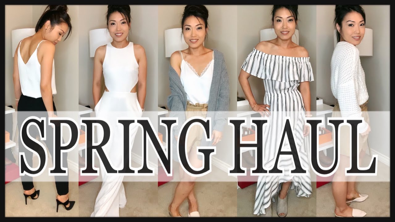 SPRING Try-On HAUL 2019 | MUST HAVE Outfits For Spring Summer? CUTE & CLASSY TRENDS | GINALVOE 1