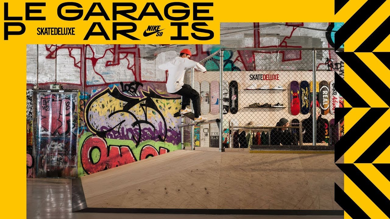 the skatedeluxe team at le garage paris skatepark pop up shop youtube. Black Bedroom Furniture Sets. Home Design Ideas