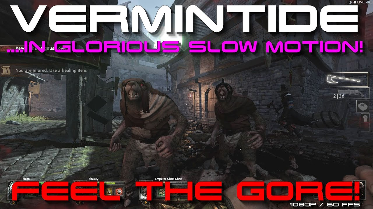 [MUST SEE] Vermintide in Slow Motion! - 'Feel The Gore!'