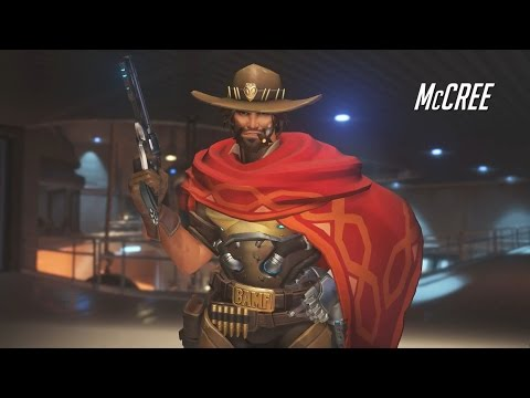 Overwatch McCree Assault Class Gameplay - Blizzard Shooter (Overwatch) (McCree Gameplay)
