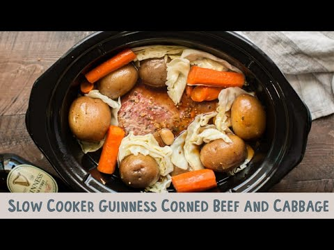 How to cook corned beef brisket and cabbage in a crock pot
