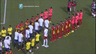 El pasillo de los campeones. Boca Unidos - Atlético Tucumán. Fecha 42. B Nacional 2015. FPT