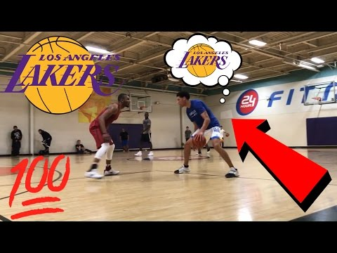 Lonzo Ball, Lamelo Ball And LiAngelo Ball PLAYING Pick Up Basketball After LAKERS DRAFT LOTTERY!