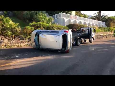 Car Removed After Collision In St George's, April 14 2018