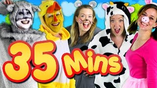 Repeat youtube video Old MacDonald Had a Farm & More! 35mins Kids Songs Collection Compilation | Bounce Patrol