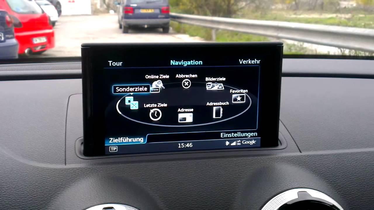 audi a3 sportback neues modell 2012 navigationssystem. Black Bedroom Furniture Sets. Home Design Ideas