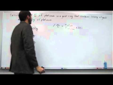 Calculate Weight/Weight Percentage of a Solid Mixture 001