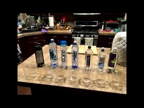 Super Market Alkaline Bottled Water Testing ORP and PH