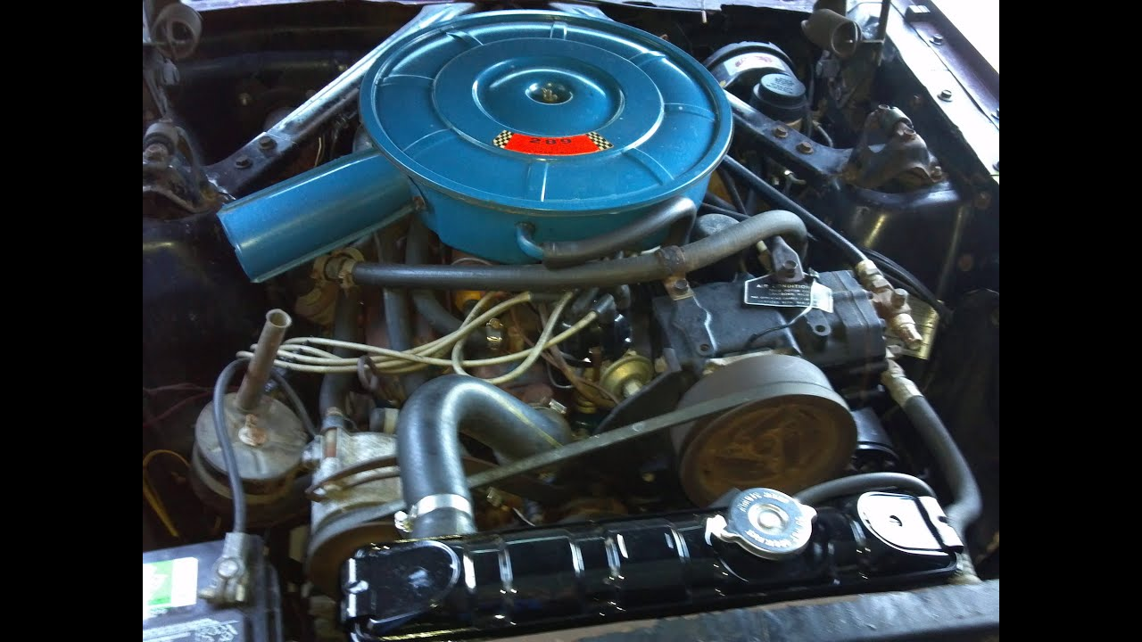 1966 Mustang 289 A code coupe Engine partment