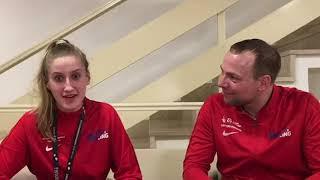 Carolina Stutchbury and Chris Galesloot after bronze at the Euros 2020